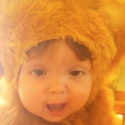 "Baby ""Lion"" Tries out Her Roar"
